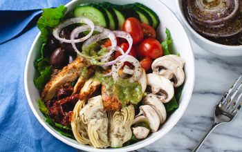 Quick and Easy Greek Salad with Chicken