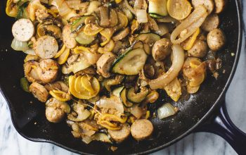 One Pan Squash and Sausage