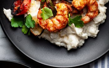 Coconut Risotto with Curried Shrimp